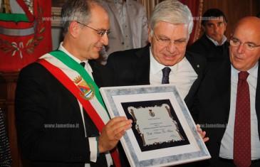 Lamezia: cittadinanza onoraria ad Arturo De Felice, contrasto alla 'ndrangheta prosegue con ottimi risultati