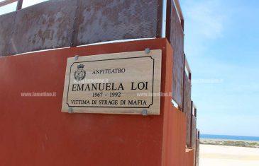Lamezia, intitolato a Emanuela Loi l'anfiteatro del lungomare 'Falcone e Borsellino'