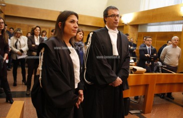Lamezia: cerimonia di insediamento per due nuovi giudici