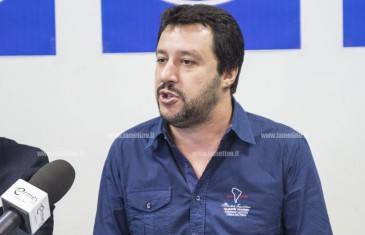 Salvini a Lamezia: qui per qualche posto di lavoro in più e qualche immigrato in meno