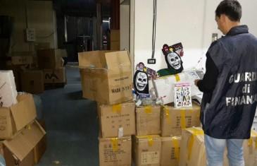 Operazione China-Halloween: sequestrati 1,5 milioni di prodotti pericolosi nel cosentino