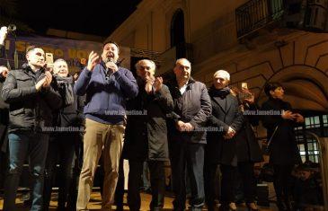 Lamezia, comizio blindato di Salvini su corso Nicotera